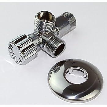 T-Stück 3/8 Zoll Abzweig-Verteiler für Eckventile aus