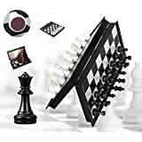 Popsugar - THR9401 Magnetic Travel Chess Set for Kids and Adults, Black