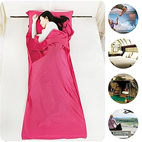 Lightweight Waterproof Microfiber Travel Sleeping Bag Comfortable for Youth Hostels Picnic Planes Trains Camping Outdoors