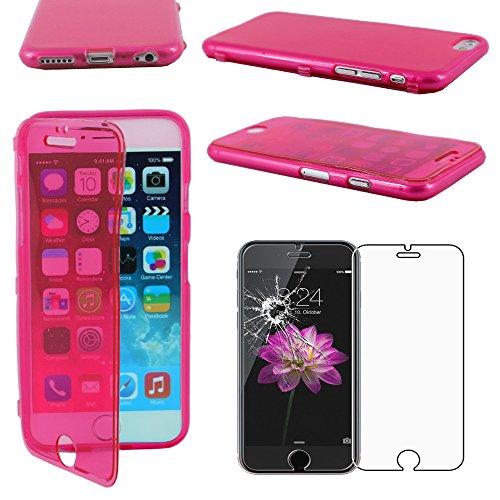 """ebestStar - pour Apple iPhone 6S 6 Plus écran 5,5"""" - Housse Etui Coque Silicone Gel Portefeuille + Film protection écran en VERRE Trempé, Couleur Noir [Dimensions PRECISES de votre appareil : 158.1 x  Rose"""