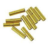 Sharplace 10er Set 3mm Magnet Verschluss Kettenverschluss Magnetverschlüsse für Armband Halskette Lederarmband Armreif - Gold, 17x4mm
