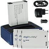 4x Batterie + Double Chargeur (USB/Auto/Secteur) FXDC02 pour Drift HD Ghost (10-005-00), Ghost-S (10-007-00)