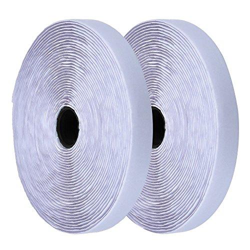 Ruban adhésif blanc à crochets et boucles ~ Adhésif ~ 100 mm de large ~ Ruban adhésif en tissu