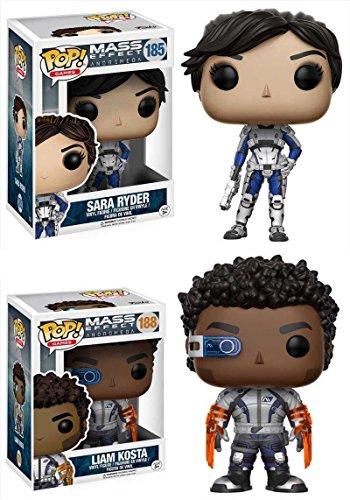 Funko Pop Pack Sarah Ryder + Liam Kosta (Mass Effect Andromeda) Funko Pop Mass Effect