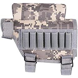 linyiming-gongyibaishe01 Stockage de Balle Tactique en Plein air, Sac en Nylon Sniper Rifle Cheek Paquet Chasse Alpinisme Sac Sac de Sport en Plein air # 2d25, Camouflage