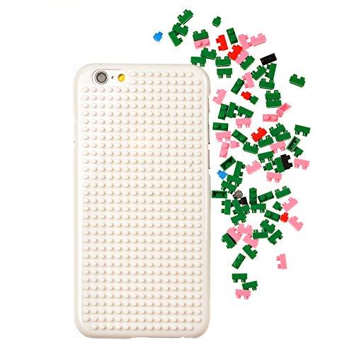 iProtect Apple iPhone 6, 6s DIY Hardcase Schutzhülle mit Bausteinen zum Zusammenstecken - Motiv Pilz Pilz