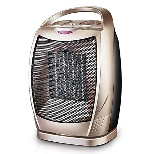 HANGESS Radiateurs à halogènes-Appareil de chauffage portatif à halogène,appareil de chauffage avecinterrupteur de sécurité,20W/750W/1500W(D'or)