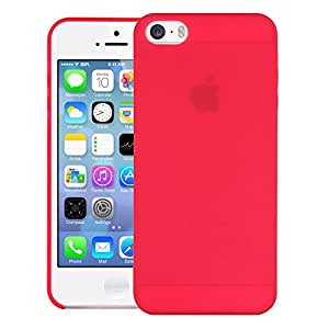 iPhone SE Back Cover, Spider Hard Case Back Cover Bumper [Semi-transparent] Back Cover for Apple iPhone SE - Red
