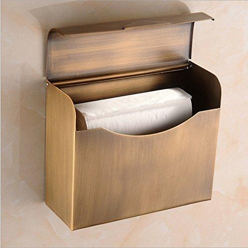 Preisvergleich Produktbild VLIMG Tischdecken ,  Badezimmer Handtuchhalter _ Kupfer antiken Tissue Box europäischen Badezimmer Handtuchhalter Bad Halbkreis,  rechteckig