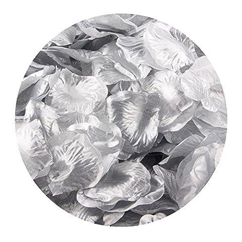 FEITONG 1000pcs Silk Rose Petals Fleur artificielle Confetti Wedding Favor Bridal Shower Aisle Decor (J)