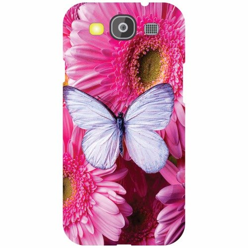 Printland Pink Flower Back Cover For Samsung Galaxy S3 Neo