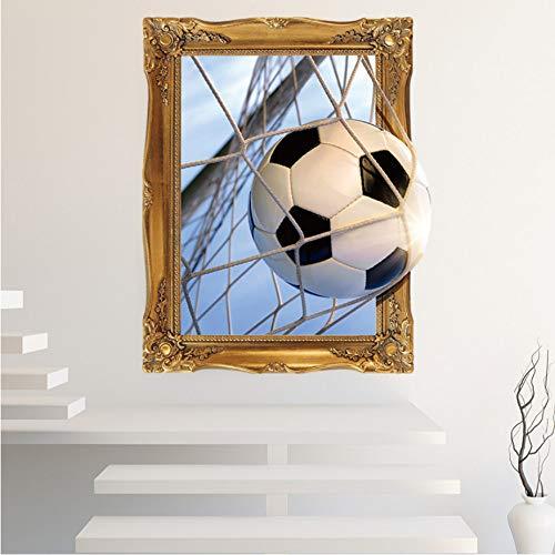 3D Fußball Ziele Wandaufkleber für Kinderzimmer Jungen Schlafzimmer Club Bar selbstklebende Wandtattoos Wandbild Decor DIY Kunst -