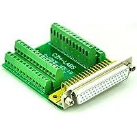 Electronics-Salon Slim rechts Winkel D 'sub DB50 Buchse Header Breakout Board Modul, TERMINAL BLOCK DSUB Stecker.
