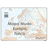 Mapa Mudo SELVI Color Din-A4 Físico, Caja x50 (Europa)