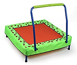 HLC fitness trampoline with handle for small children from 3 years on 30 KG