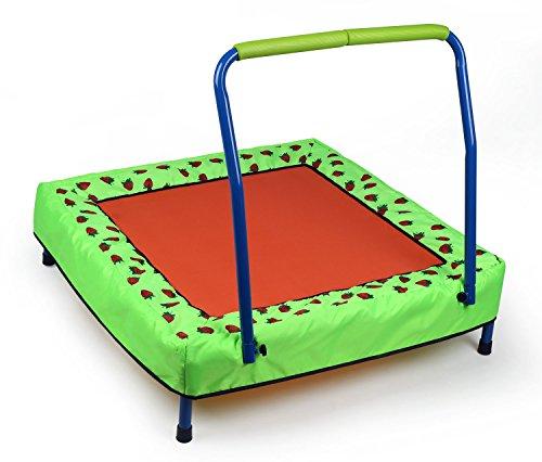 *HLC Fitness Trampolin mit Griff für Kleinekinder ab 3 Jahre belastbar auf 30 KG*