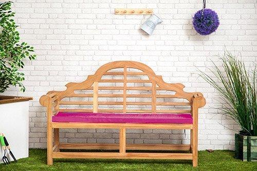 Wasserabweisend Lutyens Gartenbank Kissen in pink–groß