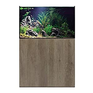 Aqua One Aquarium Fish Tanks Freshwater AquaSys 90cm 230L (Grey Nebraska Oak)