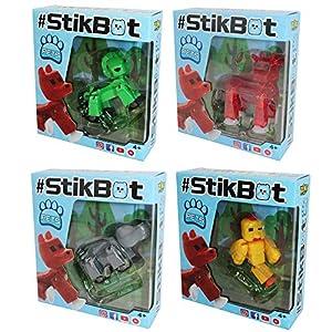 Zing S1204 StikBot Pets - Juego de 4 Paquetes Surtidos