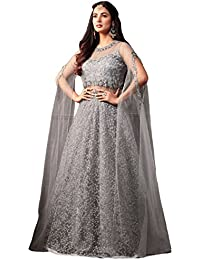 Gopinath Collections Designer Grey Net With Codding Embroidery Work With Diamond Work