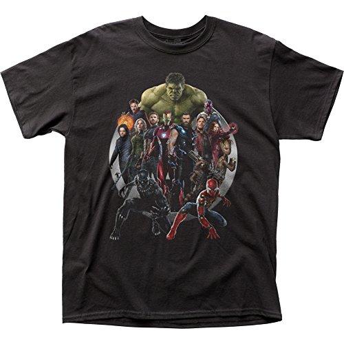 en T-shirt für Herren Groß Schwarz (Wächter Der Galaxie Kostüme)