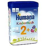 Humana Kindermilch 2+, Milchpulver zum Anrühren, enthält Calcium, Vitamin A & D, mit altersgerechtem Eiweißgehalt, ab dem 2. Jahr, 650 g