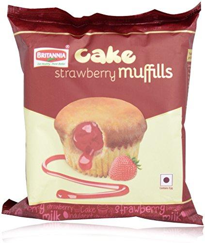 Britannia Cake - Strawberry Muffills, 35g