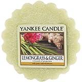Yankee Candle 1507708E - 22 g La hierba de limón y jengibre Tarta de mantequilla de Cera aromatica, Cera, Color Verde, 6.1x5.7x2 cm