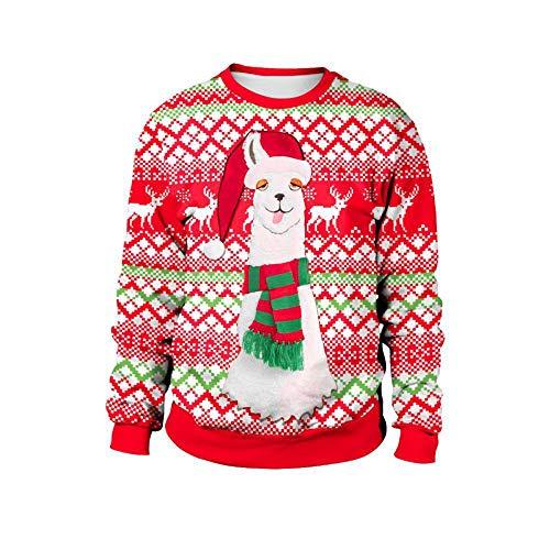 Weihnachten Erwachsene Sweatshirt (TUWEN WeihnachtskostüM Weihnachten-Runde Hals Langarm Sweatshirt Erwachsene Dame Gedruckt)