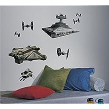 Star Wars RMK2657GM - Adhesivos de pared clásicos, 9 elementos, diseño Rebels, Naves Imperiales