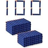 SYGA Plastic Foam Toy Bullet Dart Bullets for Nerf N-Strike Elite Guns, 100-Pieces, Blue