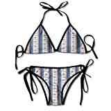 Halter Fashion Sexy Bikini,Yatching Club Icons on Sexy Bikini 2 Pieces