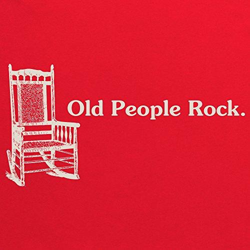 Old People Rock T-Shirt, Damen Rot