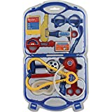 (Angel Impex) Doctor set Toy Medical Suitcase With Medical Equipments For Doctors (BLUE)