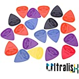 Ultralisk Alice 5 pcs Celluloid Plectrums Acoustic Electric Guitar Picks Assorted Colour and Thickness