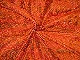 thefabricfactory 100% Pure Seide Dupionseide Ikat Stoff
