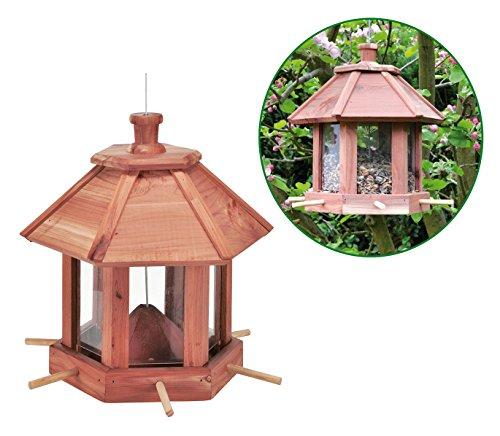 Spetebo Vogel Futterhaus aus Holz