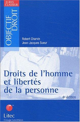 Droits de l'homme et libertés de la personne. 4ème édition (ancienne édition)