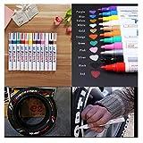 Set di 6 marcatori per pneumatici di auto, moto, pedalata, biciclette, pennarello per marcatura pneumatici, pennarello, pennarello per etichettatura impermeabile Set 1
