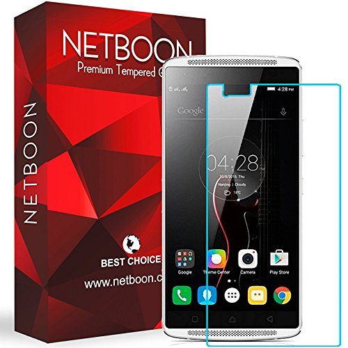 Lenovo X3 Tempered Glass - NETBOON® Original Tempered Glass HD Clarity Premium Quality Screen Protector, 9H Hardness, Ultra thin, Anti-Scratch Branded Screen Protector Gorilla Glass Guard for Lenovo Vibe X3