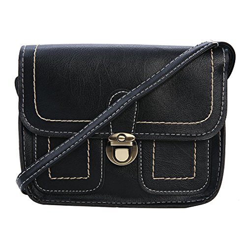 niceEshop(TM) Femme Sac Bandoulière Style Enveloppe Cuir PU Sac à Main Portefeuille (grisâtre) noir