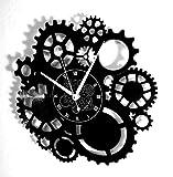 Instant Karma Clocks Horloge Murale en Vinyle Disque LP 33 Tours idée Cadeau Vintage Handmade Instant Karma-Gothic Steampunk Engrenages Silencieux