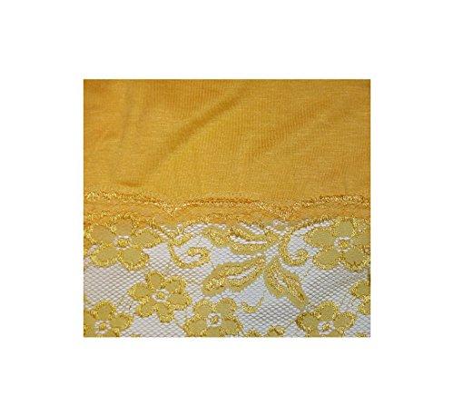 elegantes langes Spitzen-Top in wunderschönen Farben Gr. 34-38 und Gr. 40-44 S&LU Gelb