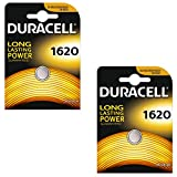 2 DURACELL 1620 Lithium Batteries CR1620 DL1620 ECR1620