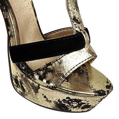 LvYuan Damen-Sandalen-Kleid Party & Festivität-Lackleder maßgeschneiderte Werkstoffe-Stöckelabsatz-Neuheit Club-Schuhe-Schwarz Gold Gold