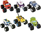 LOTE 6 FIGURAS Comansi Blaze and the Monster Machines - Blaze - Starla - Stripes - Crusher - Zeg - Darington