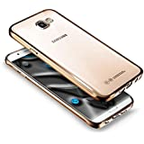 Paillette Coque Housse Etui pour Galaxy A5 2017, Galaxy A5 2017 Coque en Silicone Bling Housse Etui Gel Slim Case Soft Gel Cover, Ukayfe d'or Coque Etui de Protection Cas en caoutchouc en Ultra Slim Souple Cristal Transparent clairTransparent clairGel TPU Bumper Scintillant Cristal Transparent clairTransparent clair Coque Housse Cas Case Cover Couverture Etui pour Samsung Galaxy A5 2017