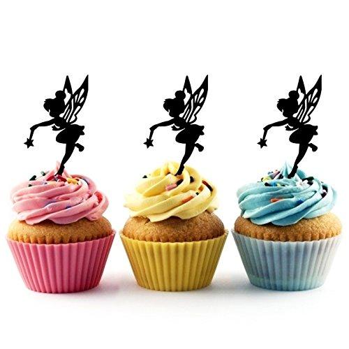 Kuchenaufsätze Hochzeit Geburtsta Acryl Dekor Cupcake Kuchen Topper Stand für Kuchen Party Dekoration 10 Stück ()