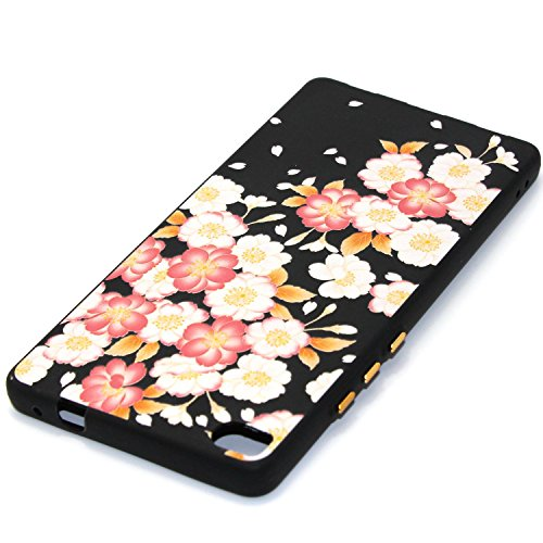 Qiaogle Telefon Case - Weiche TPU Case Silikon Schutzhülle Cover für Apple iPhone 5 / 5G / 5S / 5SE (4.0 Zoll) - YX48 / Roter Pfirsich YX43 / Pfingstrose