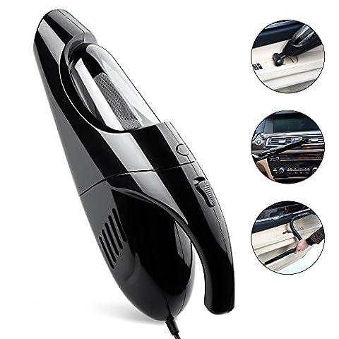 Ideapro Handheld automatique Aspirateur de voiture Puissance: 80W, 3.0KPA 5en 1multifonctionnel Ventouse Portable de voiture Dustbuster Aspirateur poussière Buster Aspirateur avec filtres Hepa, 4Bouche des 4m Cordon d'alimentation avec sac de
